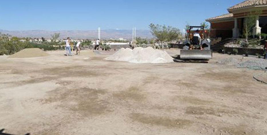 Grading Surface For Rio Secco Wedding Area Construction