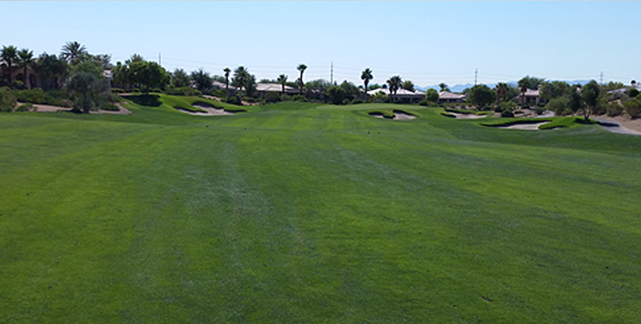 Siena Golf Club Hole #1 July 2014 - 10 Months Later